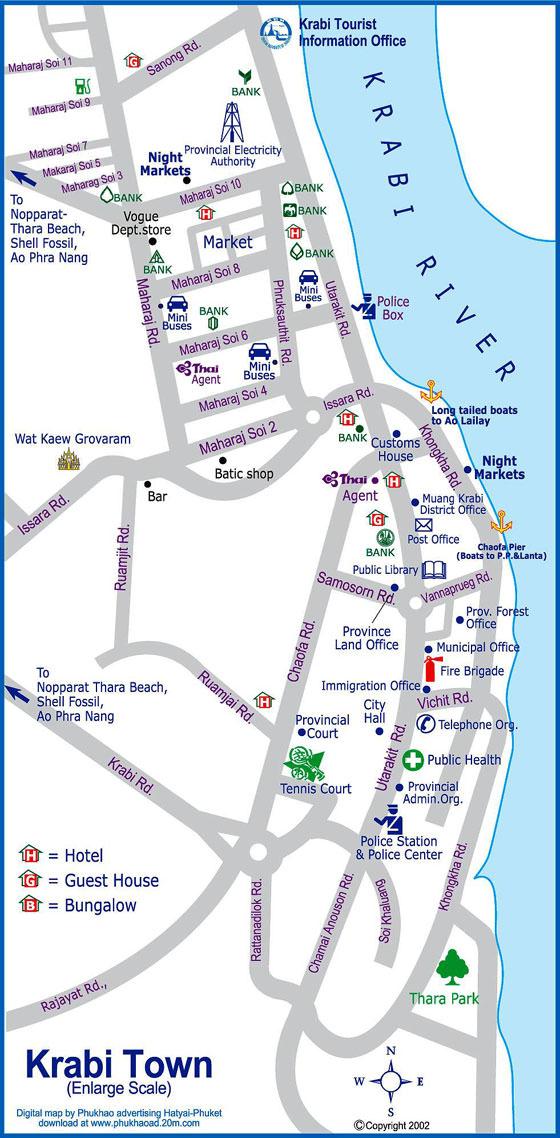 Large map of Krabi 1