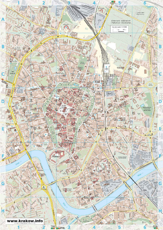 Large map of Krakow 1