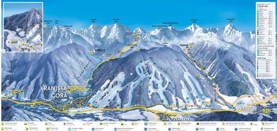 Detailed map of Kranjska Gora 2