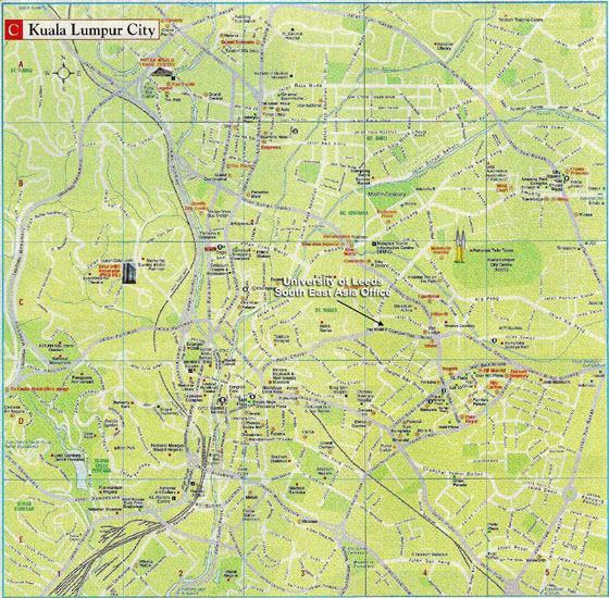 Large map of Kuala Lumpur 3