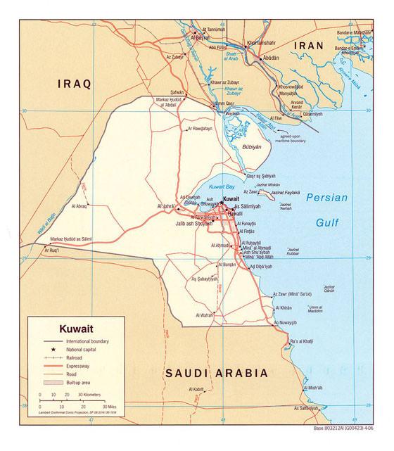 Stadtplan von Kuwait