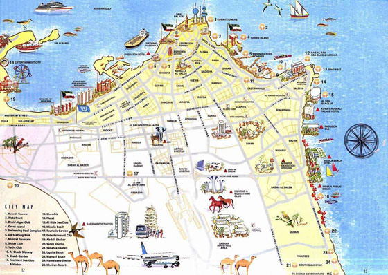 Detailed map of Kuwait City 2