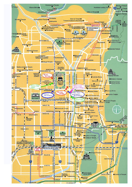Kyoto Subway Map For Download Metro In Kyoto High Resolution Map