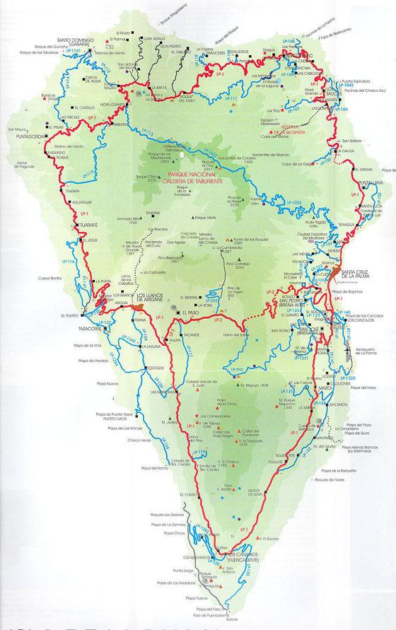 Large map of La Palma 1