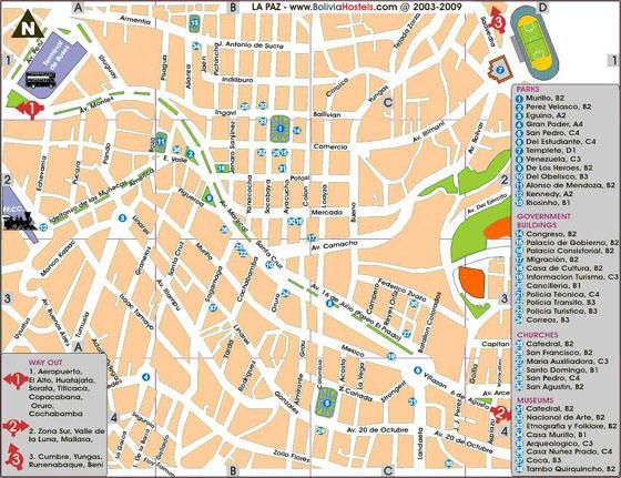 Plan de la ciudad La Paz