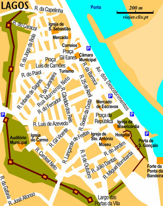 Large Lagos Maps For Free Download And Print HighResolution And - Portugal map to print