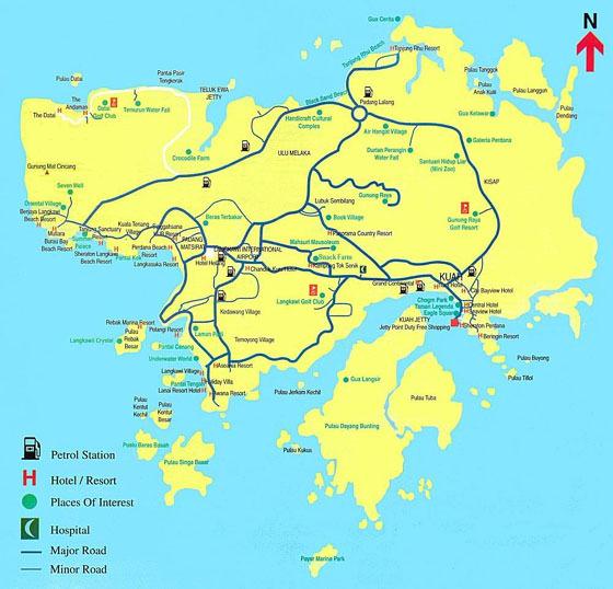 Large map of Langkawi 1
