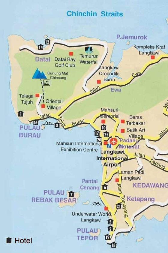 Large map of Langkawi 3