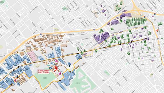 Karte von Las Vegas 1