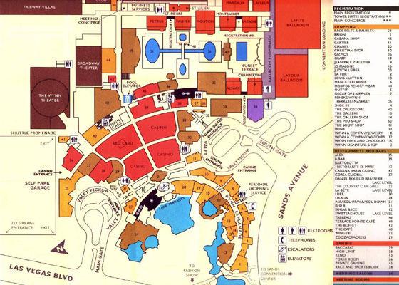 Detaillierte Karte von Las Vegas 2