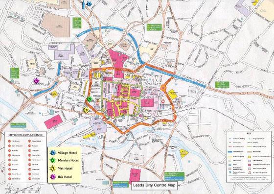 Große Karte von Leeds 1