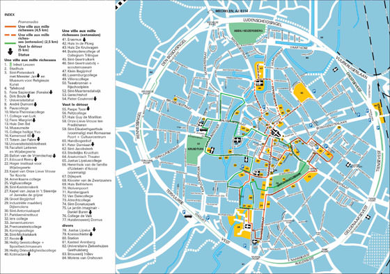 High-resolution map of Leuven for print or download