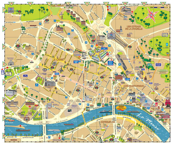 Detailed map of Liege 2