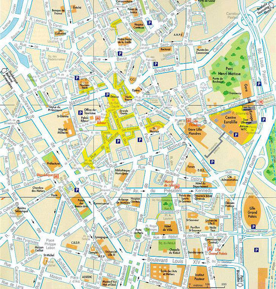lille tram map for free download map of lille tramway network. Black Bedroom Furniture Sets. Home Design Ideas