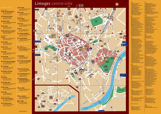 Detailed map of Limoges 2