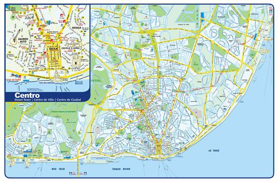 Large map of Lisbon 1