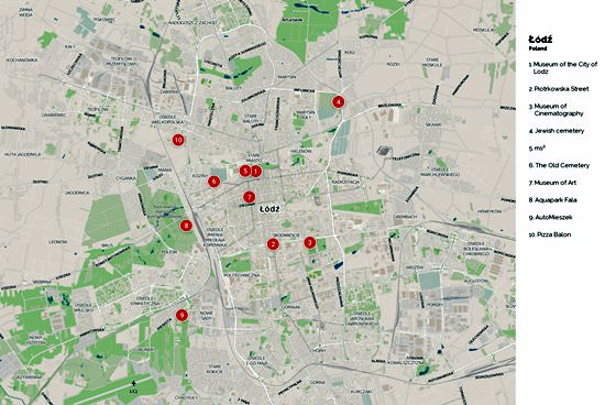 Detailed map of Lodz 2