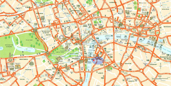 Large map of London 3