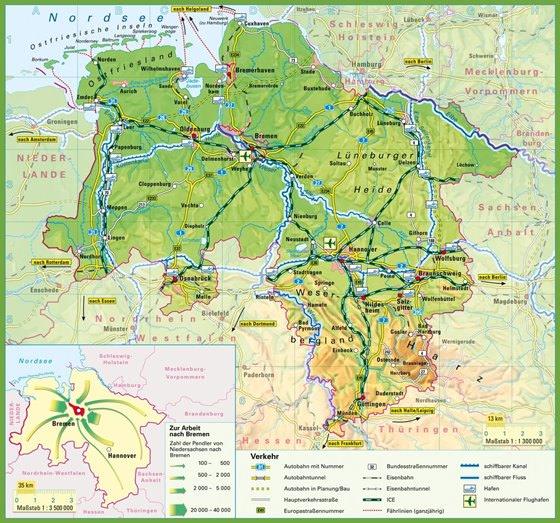 Карта Нижней Саксонии 1