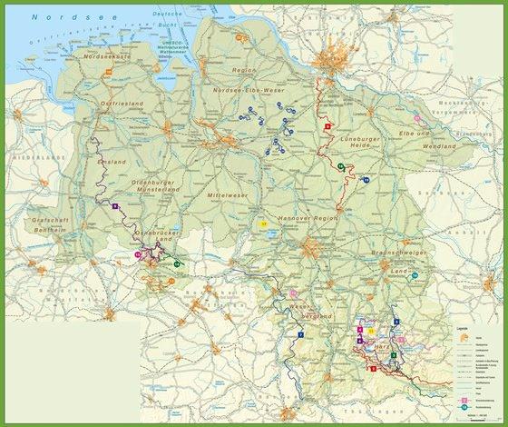 Карта Нижней Саксонии 2