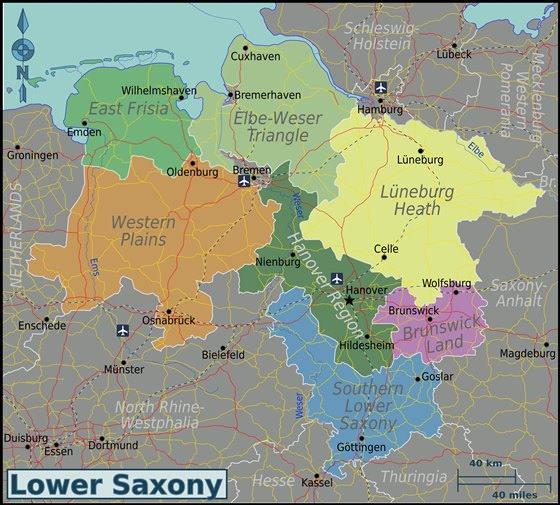 Карта Нижней Саксонии 3