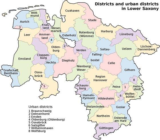 Карта Нижней Саксонии 4