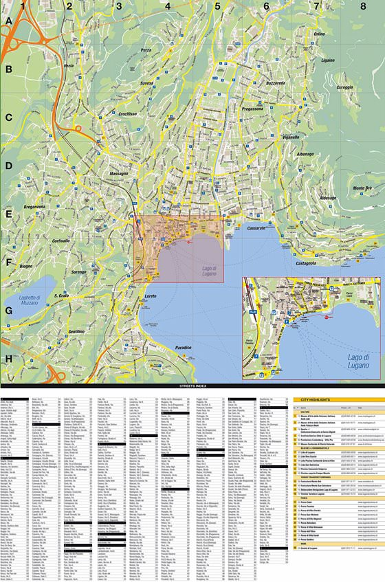 Large map of Lugano 1