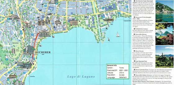 Large map of Lugano 3