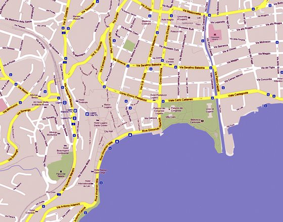 Detailed map of Lugano 4