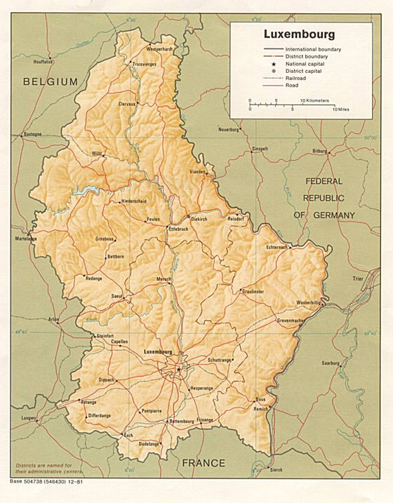 Luxembourg Germany Map.Interactive Map Of Luxembourg Search Touristic Sights Hiking And