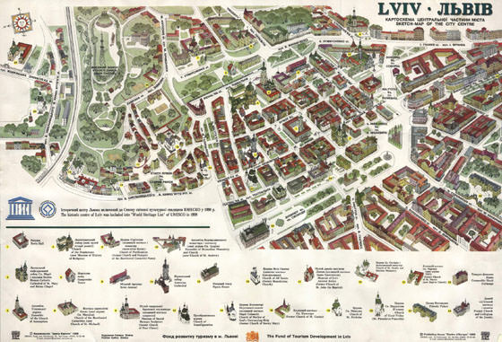 Large map of Lviv 1