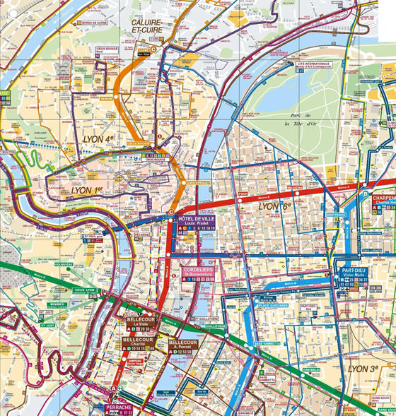 Große Karte von Lyon 1