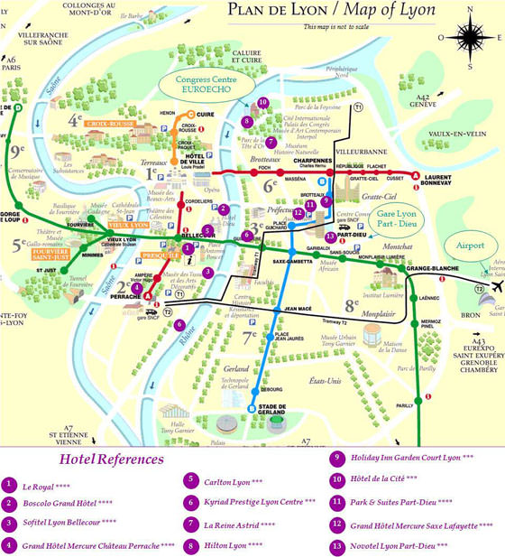 Lyon Tram Map for Free Download Map of Lyon Tramway Network