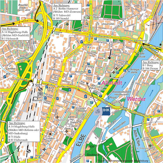 Large map of Magdeburg 1