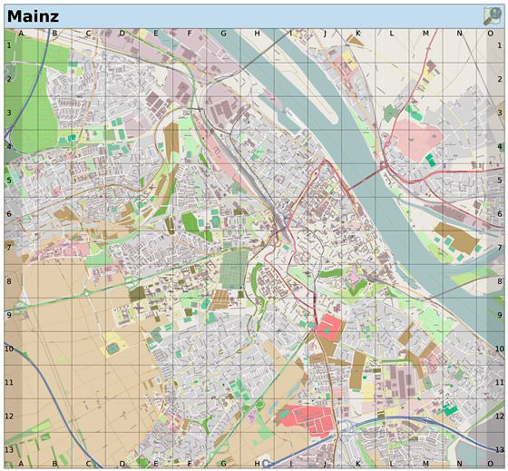 Large map of Mainz 1