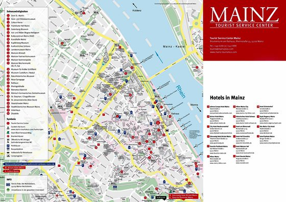 Detailed map of Mainz 2