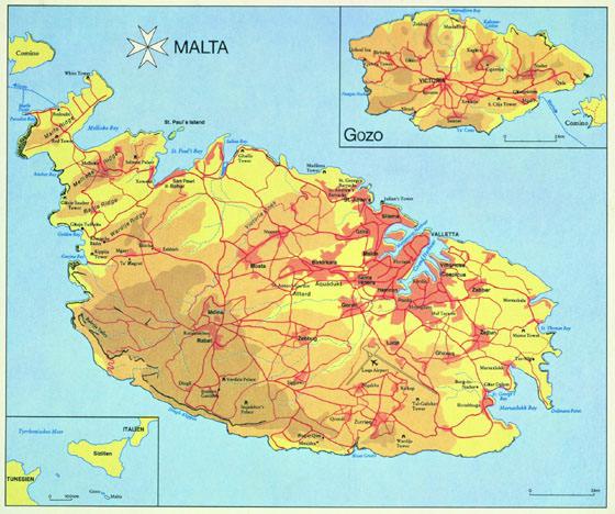 Malta Island map 1