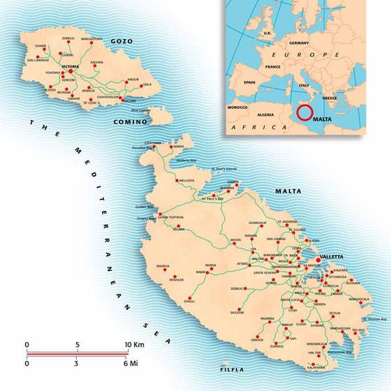 Malta Island map 2
