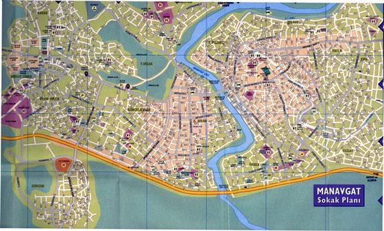 Детальная карта Манавгата 1