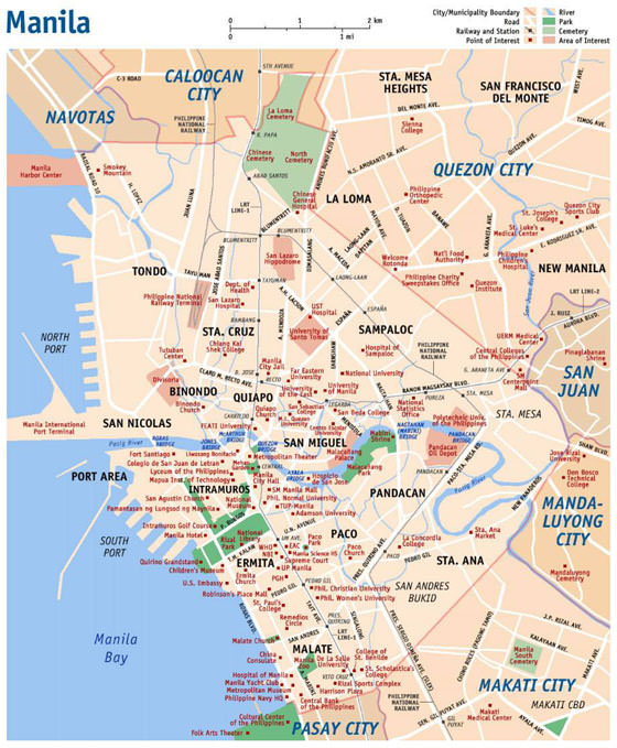 Large Manila Maps For Free Download And Print High Resolution And Detailed Maps