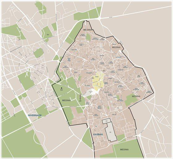Mapa detallado de Marrakech 2