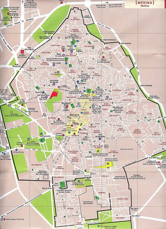 Gran mapa de Marrakech 3