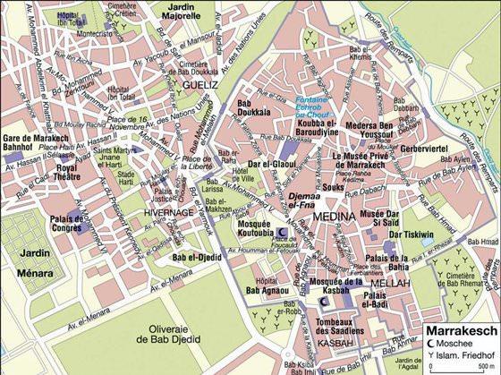 Mapa detallado de Marrakech 4