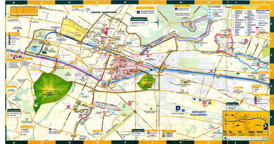 Große Karte von Medellin 1