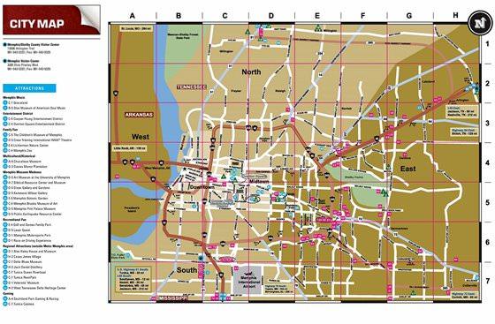 Große Karte von Memphis 1