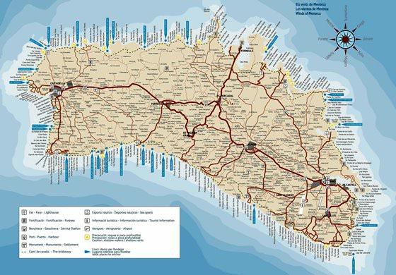 Interaktive Karte von Minorca - Sehenswürdigkeiten finden ...