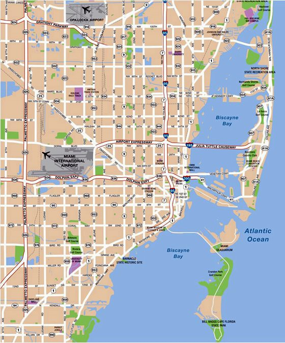Miami Subway Map for Download | Metro in Miami - High-Resolution Map ...