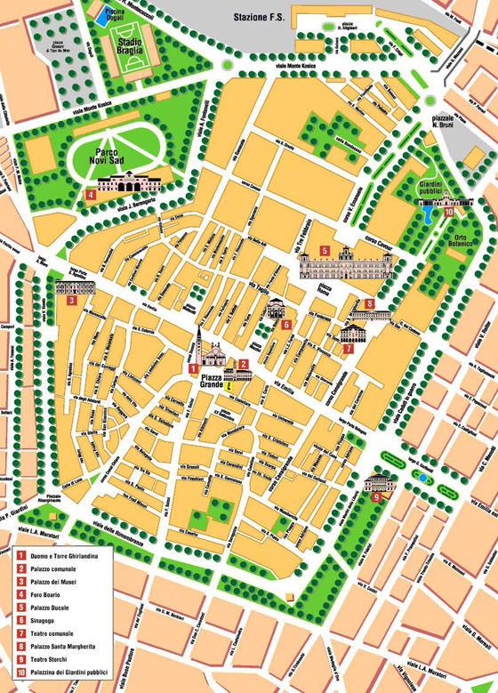 Mapa de Módena  1