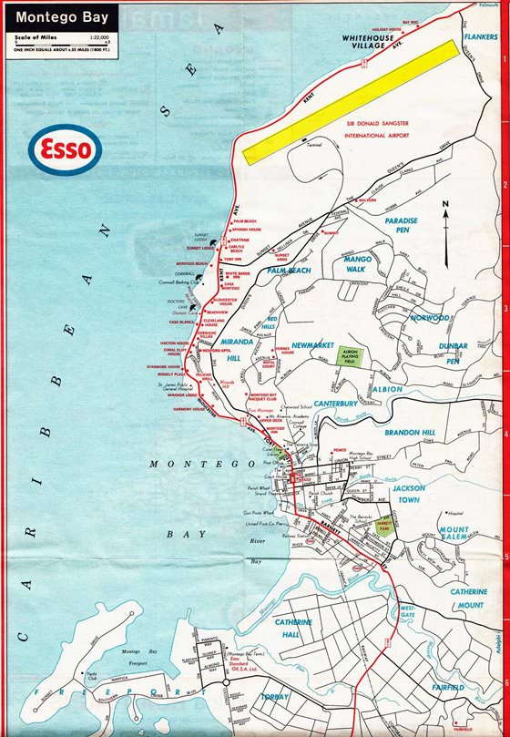Detailed map of Montego Bay 2