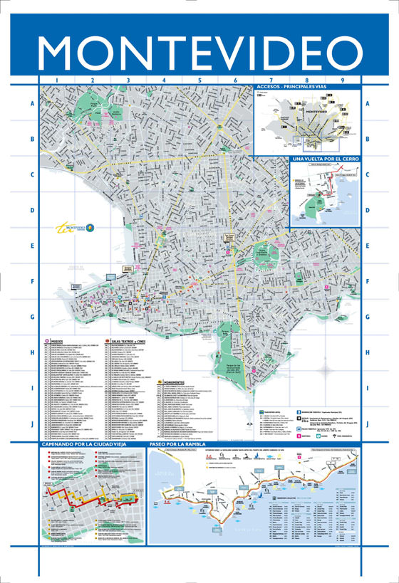 Large map of Montevideo 1